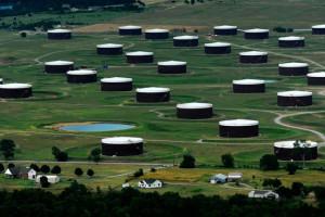 Storage tanks around Cushing, Okla. - Getty Images